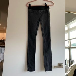 Free people black faded jeggins size 27